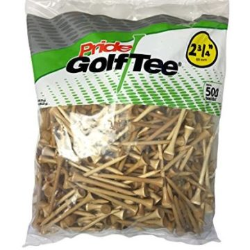Pride Golf Tee 23 4Inch Deluxe Tee 100 Count Bag Natural