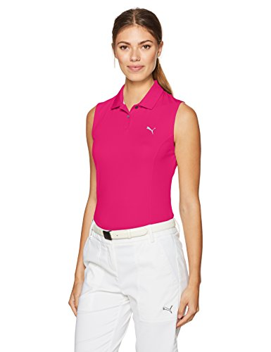 Puma Golf 2017 Women Pounce Sleeveless Polo Love Potion Medium