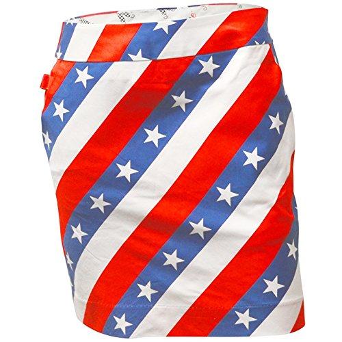 Royal & Awesome Women Womens Golf Skort Skirt Pars Stripes US 4 UK 8