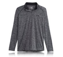 Under Armour Men Tech 1 4 Zip Black Graphite Large