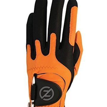 Zero Friction Men Golf Gloves Right Hand One Size Orange