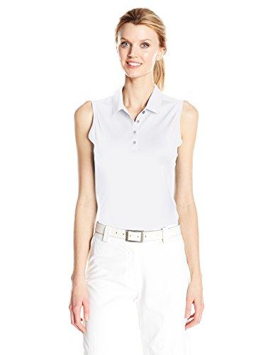 adidas Golf Women Performance Polo Sleeveless TShirt White Large