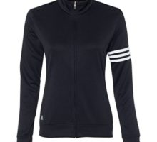 adidas Womens climalite 3Stripes Pullover A191 BLACK  WHITE M