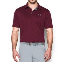 Under Armour Men Tech Polo Maroon