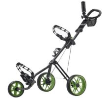 CaddyTek SuperLite Deluxe Golf Push Cart Black Green