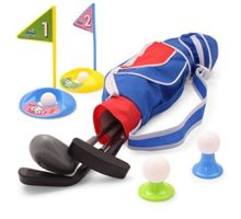 EXERCISE N PLAY Deluxe Happy Kids Toddler Golf Clubs Set GrowtoPro Golfer 15 Piece Set