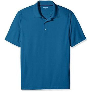 Amazon Essentials Men RegularFit QuickDry Golf Polo Shirt Deep Teal Large