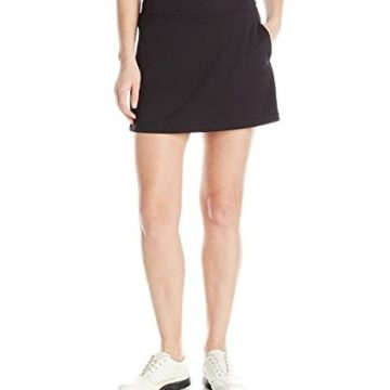 PGA TOUR Women 16″ Airflux Solid Knit Skort with Tummy Control Caviar M