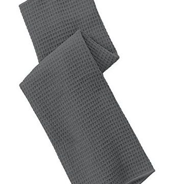 Port Authority Men Waffle Microfiber Golf Towel OSFA Deep Smoke