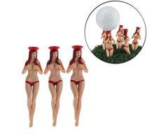 CRESTGOlf Style 6pcs pack size 75mm(295inch) Sexy Bikini Lady Golf Tees Gift Newest Design Plastic Golf Tees Golf Accessories