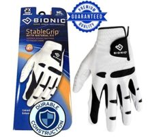 New Improved 2018 Long Lasting Bionic StableGrip Golf Glove  Patented Stable Grip Genuine Cabretta Leather Designed by Orthopedic Surgeon!