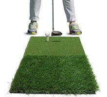 Rukket TwinTurf Golf Hitting Grass Mat | Realistic Fairway and Rough | Portable Driving Chipping Training Aids Equipment