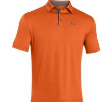 Under Armour Tech Polo  Men Orange   Graphite Large