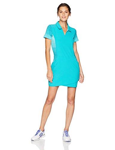 adidas Golf Women Rangewear Dress Small HiRes Aqua