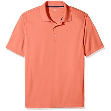 Amazon Essentials Men RegularFit QuickDry Golf Polo Shirt Coral XLarge