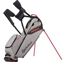 TaylorMade FlexTech Lite Golf Bag Gray Red