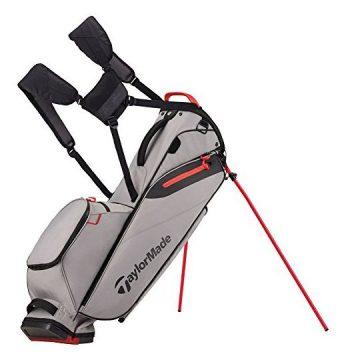 TaylorMade FlexTech Lite Golf Bag Gray Red