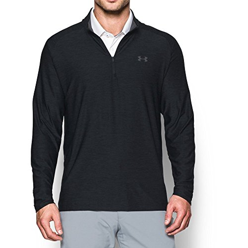 Under Armour Men Playoff 1 4 Zip Shirt Black  Rhino Gray Large Tall