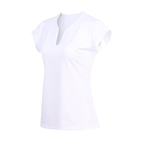 32eSANERYI Women QuickDrying VNeck Short Sleeve Tees Badminton Shirts