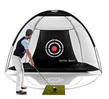Galileo Golf Net Training Aids Hitting Practice Training Nets for Backyard Driving Range Indoor Use Golf Cage Tent Swing Training Aid with Target 10'x65'x6′