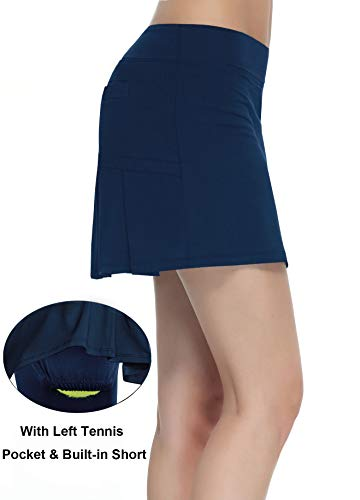 Women Workout Active Skorts Sports Tennis Golf Skirt with Builtin Shorts Size XL
