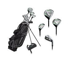 Aspire X1 Men Complete Golf Set Includes Titanium Driver SS Fairway SS Hybrid SS 6PW Irons Putter Stand Bag 3 H C Right Hand Tall Size for Men 6'1″ and Above!