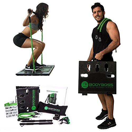 BodyBoss Home Gym 20  Full Portable Gym Home Workout Package Includes 1 Set of Resistance Bands