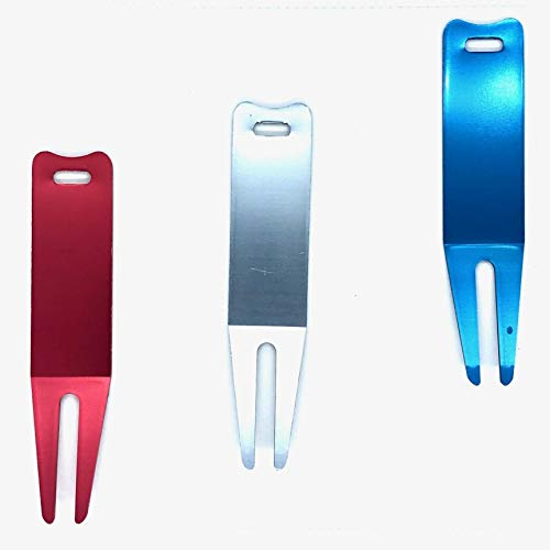 Divot Repair Tool Classic Red Silver Blue 3 Pack