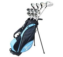 Palm Springs Golf VISA LADY PETITE 1″ ALL GRAPHITE Hybrid Club Set & Stand Bag
