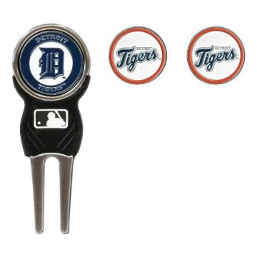 Team Golf MLB Detroit Tigers Divot Tool with 3 Golf Ball Markers Pack Markers are Removable Magnetic DoubleSided Enamel