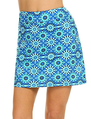 Ekouaer Golf Skorts for Women Breathable Comfy Mini Anytime Tennis Skirt with Short SXXL