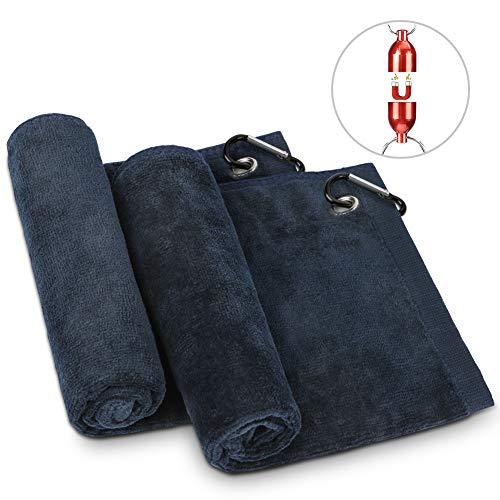 Merssyria Golf Towels Microfiber Golf Towel for Bags Golf Club Ball Cleaning Towel
