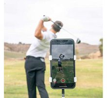 SelfieGolf Record Golf Swing  Cell Phone Clip Holder and Training Aid  Golf Accessories | Winner of The PGA Best Product | Works with Any Smart Phone Quick Set Up