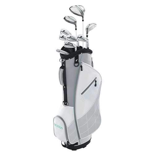 Wilson Ultra Womens Right Handed Complete Golf Club Set with Cart Bag Gray Mint