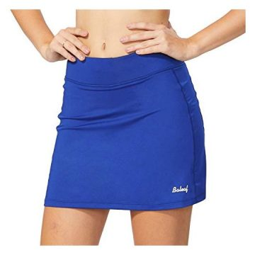 Baleaf Women Active Athletic Skort Lightweight Skirt with Pockets for Running Tennis Golf Workout Blue Size M