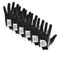 FINGER TEN New Mens RainGrip Hot Wet Weather Comfort Extra Value XL Black Left Hand LH and Right Hand RH Durable Golf Gloves Value 6 Pack