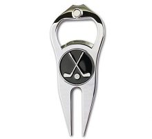 GOLTERS Golf Divot Repair Tool with Ball Marker a Unique and MultiFunctional Golf Accessory Nickel