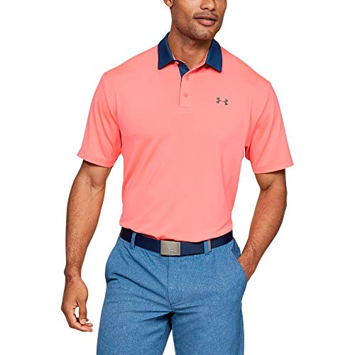 Under Armour Men Playoff Golf Polo 20 Blitz Red Pitch Gray Large