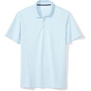 Amazon Essentials Men SlimFit QuickDry Golf Polo Shirt Light Blue Medium