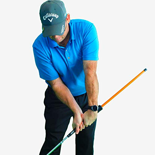 AntiFlip Stick™ Impact Golf Swing Training Aid | Teaches Proper Impact & Swing Plane | Golf Swing Trainer | Golf Chipping Practice Aid