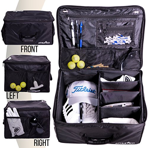 Athletico Golf Trunk Organizer Storage  Car Golf Locker to Store Golf Accessories | Collapsible When Not in Use