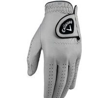 Callaway Golf Men Opticolor Leather Glove Worn on Left Hand Cadet XLarge Grey