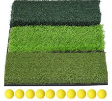 "SkyLife 3Turf Golf Hitting Grass Mat Portable Training Fairway Rough TEE Turf Driving Chipping Putting Golf Equipment Home Backyard Garage Outdoor Practice 25""x16"""