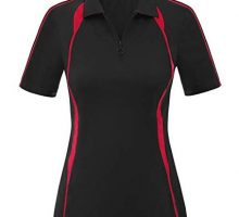 Womens Lapel Collar Zipup Polos Tops Sports Golf Shirt