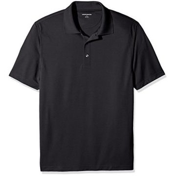 Amazon Essentials Men RegularFit QuickDry Golf Polo Shirt Black XLarge