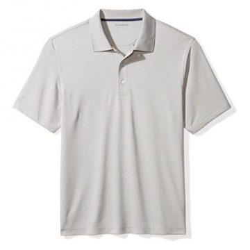 Amazon Essentials Men RegularFit QuickDry Golf Polo Shirt light grey heather XXLarge
