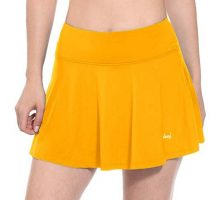 BALEAF Women Workout Training Skirts Active Skort Tennis Golf Skirt Yellow Size M