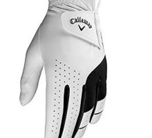 Callaway Golf Men Weather Spann Premium Japanese Synthetic Golf Glove Worn on Right Hand Large