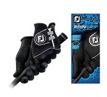 FootJoy Men RainGrip Pair Golf Glove Black Medium Large Pair