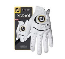 FootJoy Men StaSof Golf Glove White Medium Large Worn on Left Hand